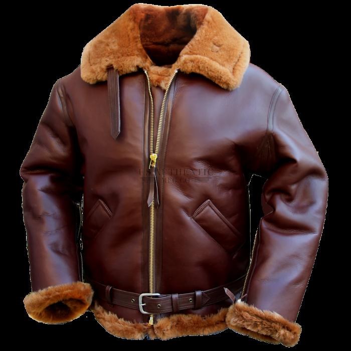 Raf Bomber Jacket Air Force Leather Sheepskin Jacket