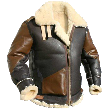 B3 sheepskin bomber jacket